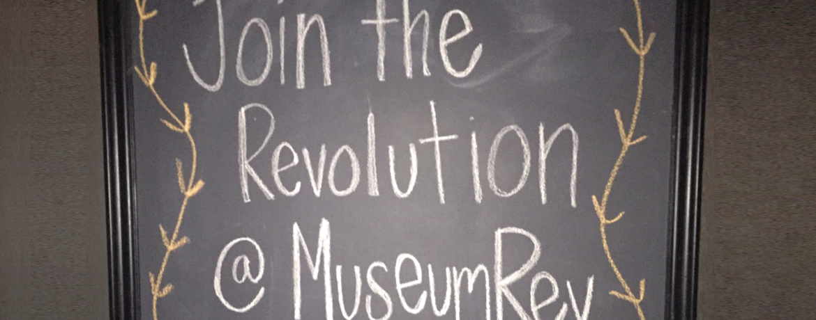 Museum Revolution's Join the Revolution sign