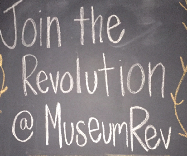 Museum Revolution's Join the Revolution sign