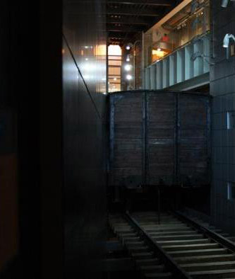 Railcar at Illinois Holocaust Museum