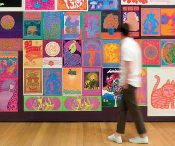 MoMA poster wall