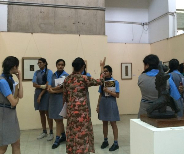 Art class at museum in India
